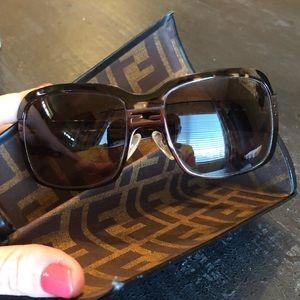 Fendi EUC FS 464 210 Brown & Bronze Sunglasses